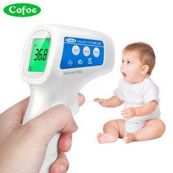 Cofoe termómetro infrarrojo de la temperatura del cuerpo fiebre Digital medidor IR sin contacto herramienta portátil para adultos bebé