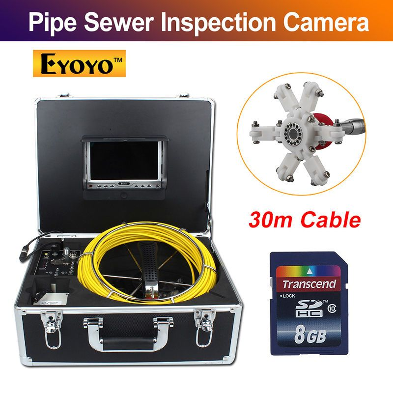 Eyoyo 30M 98FT Sewer Waterproof Video Camera 7