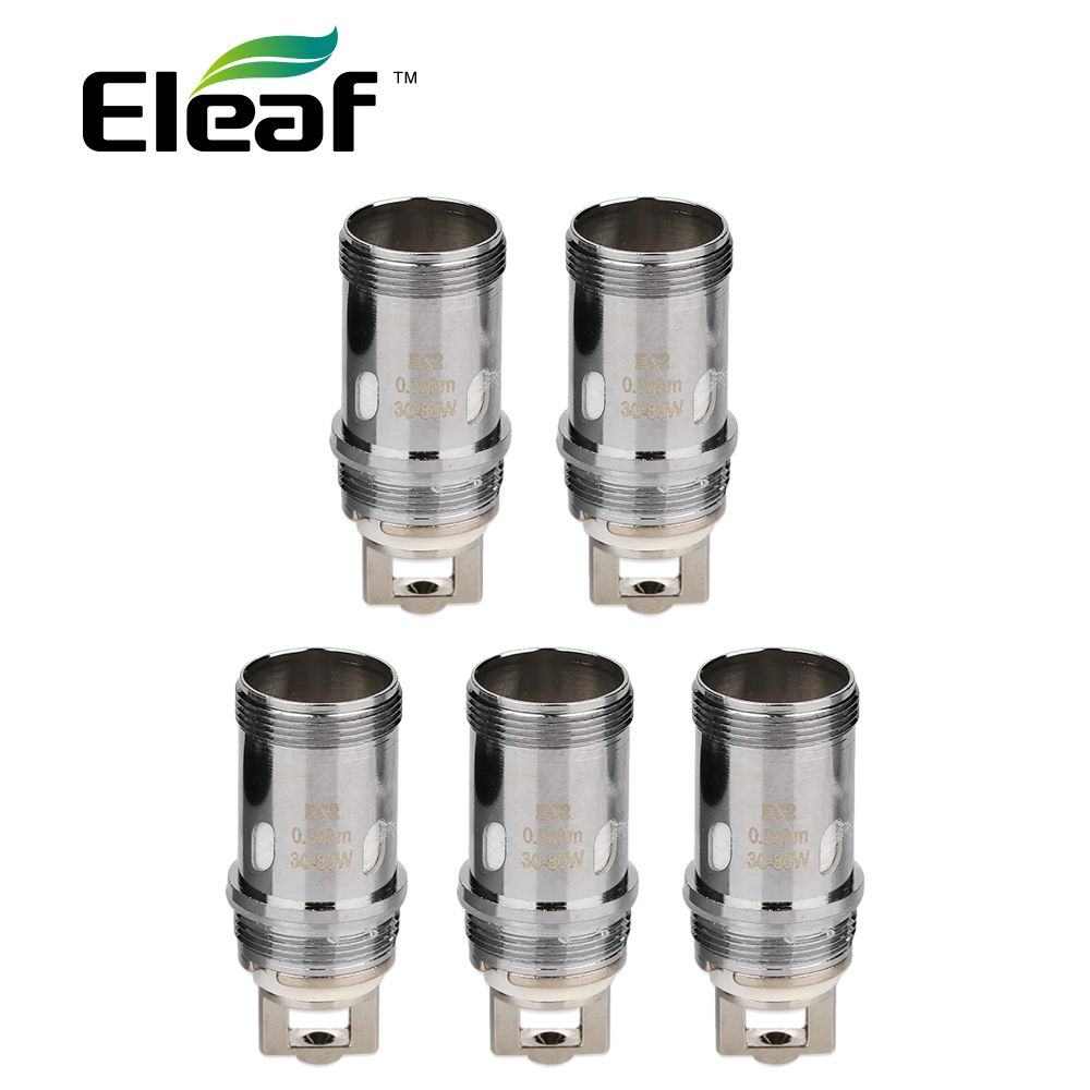 Original 5pcs Original Eleaf EC2 Coil Head 0.3ohm/0.5ohm Head Vape Coil for Eleaf Melo 4 Atomizer /iKuun Kit E-Cigarette Coil