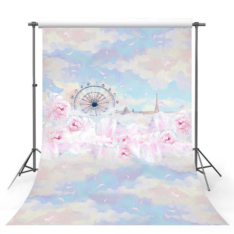 Customize love 3 D sky wonderland photo studio backgrounds for baby party portrait photography backdrops props