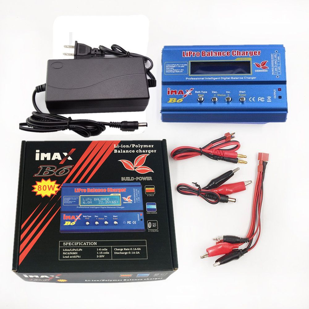 Build-Power Factory Wholesale IMAX B6 Digital RC Lipo NiMh Battery Balance Charger With AC POWER 12v 6A Adapter