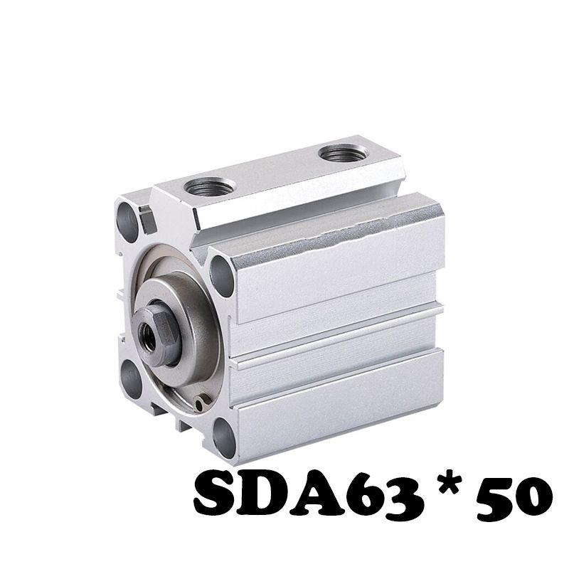 SDA63*50 standard small and high quality SDA series 63mm caliber 50mm stroke cylinder sda63-50