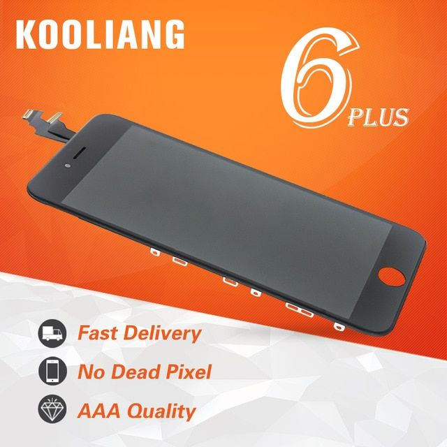 Russe entrepôt AAA Qualité Pour iPhone 6 Plus LCD Affichage à L'écran Tactile Digitizer Assemblée et LCD de Remplacement