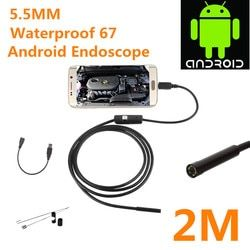 2017 Date 5.5/7mm Étanche Mini Android Endoscope USB Fil Tube de Serpent D'inspection Endoscope Compatible Android Smartphone PC