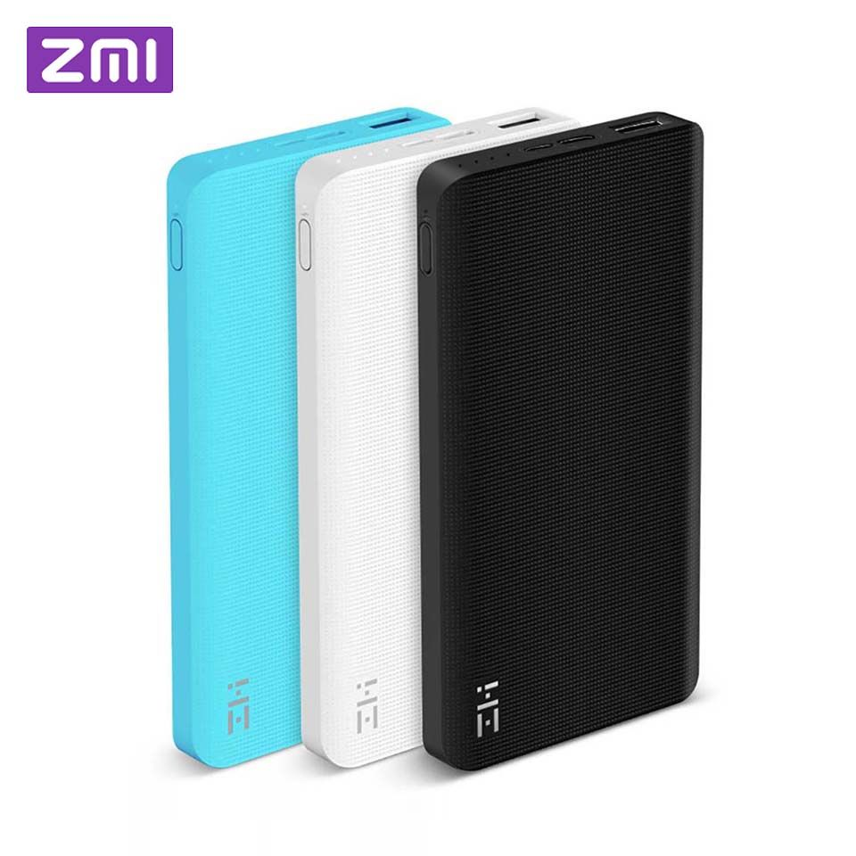 Xiaomi ZMI Power Bank 10000mAh Powerbank External Battery portable charging Quick Charge 2.0 Two-Way Fast Charge Pack for iPhone