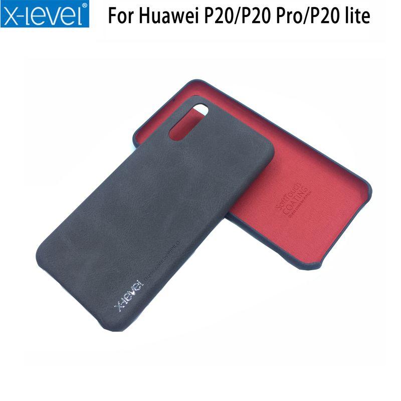 HUAWEI P20 Pro Cas X-Niveau PU Cuir Téléphoniques Protection Arrière couverture Pour Huawei P20 P20 Pro P20 Lite Mobile Téléphone cas