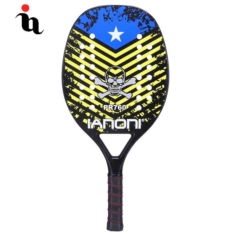IANONI Strand Männlichen Tennis Schläger Hohe Qualität USA Shantou Muster Carbon Fiber Composite EVA Graphit Professionelle Strand Raquete