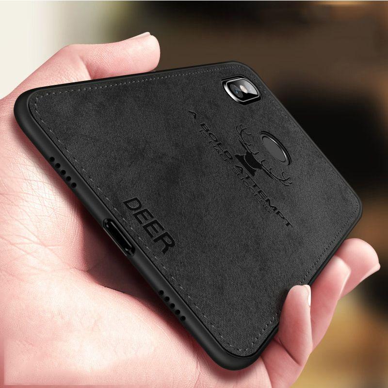 For Xiaomi Redmi Note 5 Case Cloth Distressed Hard Back Cover Soft Frame Fabric Fundas Xiomi Redmi Note 5 Pro Note5 Phone Cases