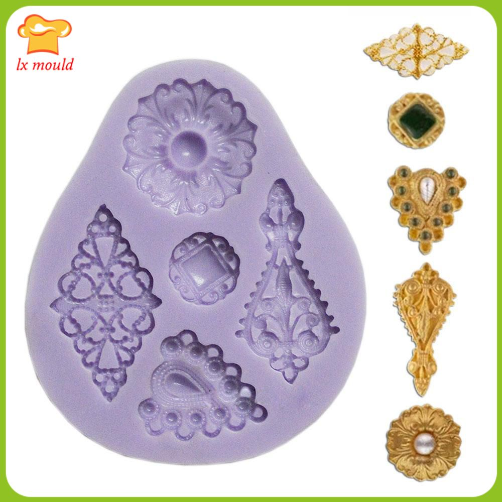 Fondant silicone mold dry Pace  retro rich Charm Jewelry Collection
