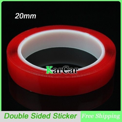 3m x 20mm Width Transparent Silicone Double Sided Tape Sticker For Car Accessories, High Strength No Traces Adhesive Sticker