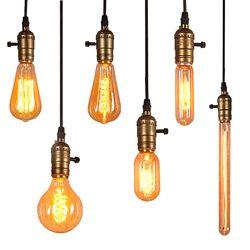 Edison Ampoule E27 40 W À Incandescence Rétro Lampe 220 V ST64 A19 T45 T10 G80 G95 Ampoule Vintage Ampoule Edison filament De La Lampe ampoule