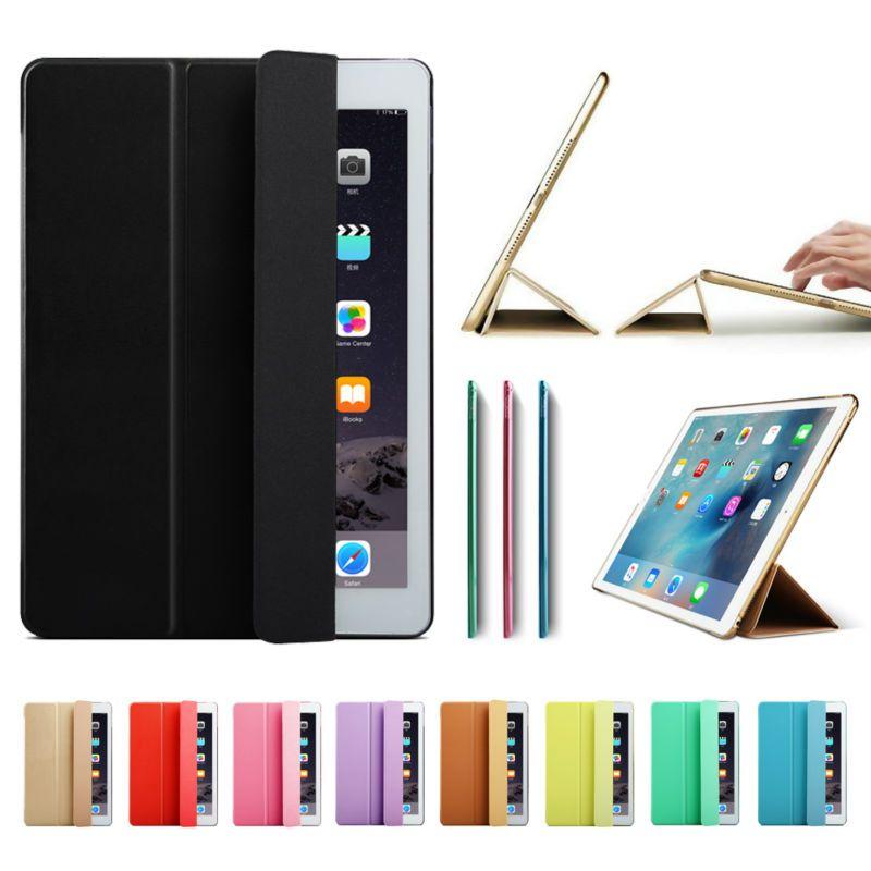 Ultra Slim Smart Case Cover for Apple iPad Pro 12.9 2015 2016 12.9 2017 PU Leather Tablet Folding Folio Cases Auto Wake / Sleep