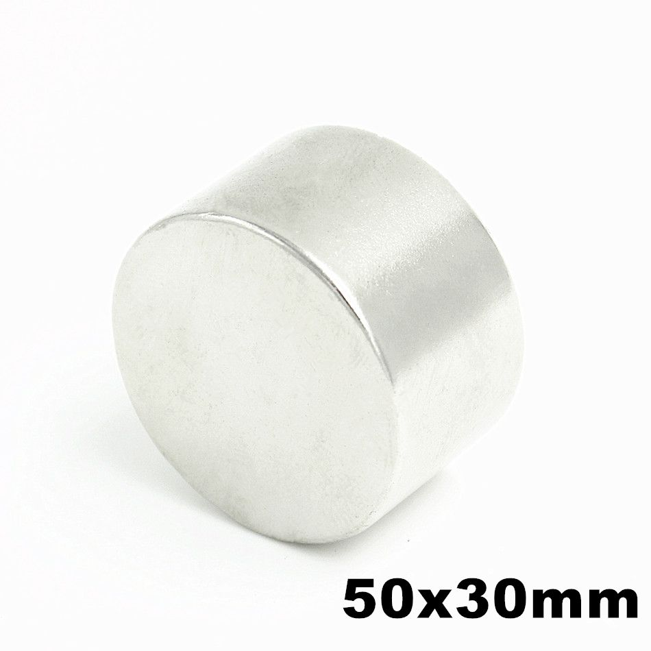 1pcs N52 50mm x 30mm Super Powerful Strong Bulk Small Round NdFeB Neodymium Disc Magnets Dia  Rare Earth NdFeB Magnet