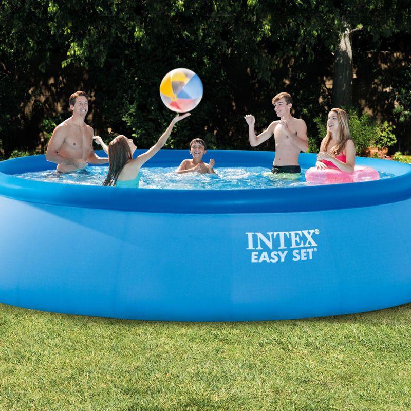 INTEX 28166 15 füße 457*107 cm über boden pool piscina easy set pool sommer spielen schwimmen familie pool leiter filter pumpe set