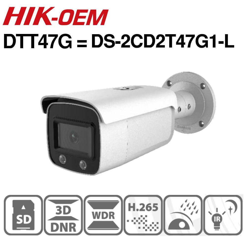 Hikvision ColorVu OEM IP Kamera DTT47G (OEM DS-2CD2T47G1-L) 4MP Netzwerk Dome POE IP Kamera H.265 CCTV Kamera SD Card Slot
