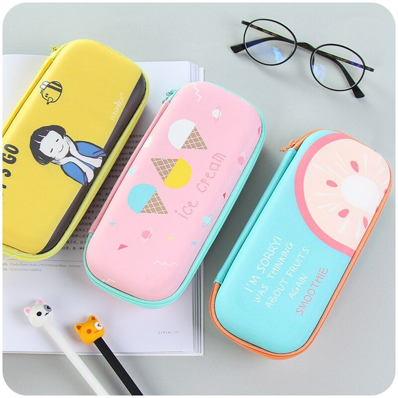 cute Stationery Box Girls Pencil Case For School Pencil Cases Kawaii Papeleria Stationery For Kids Trousse Scolaire Stylo Kawaii