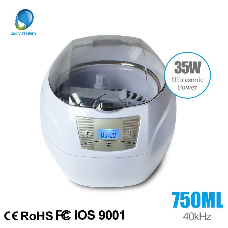 SKYMEN 750ml Ultrasonic Cleaner bath watch <font><b>glasses</b></font> Jewelry Coins Rings <font><b>glasses</b></font> Manicure Nail Tools 35W/220V Local free shipping