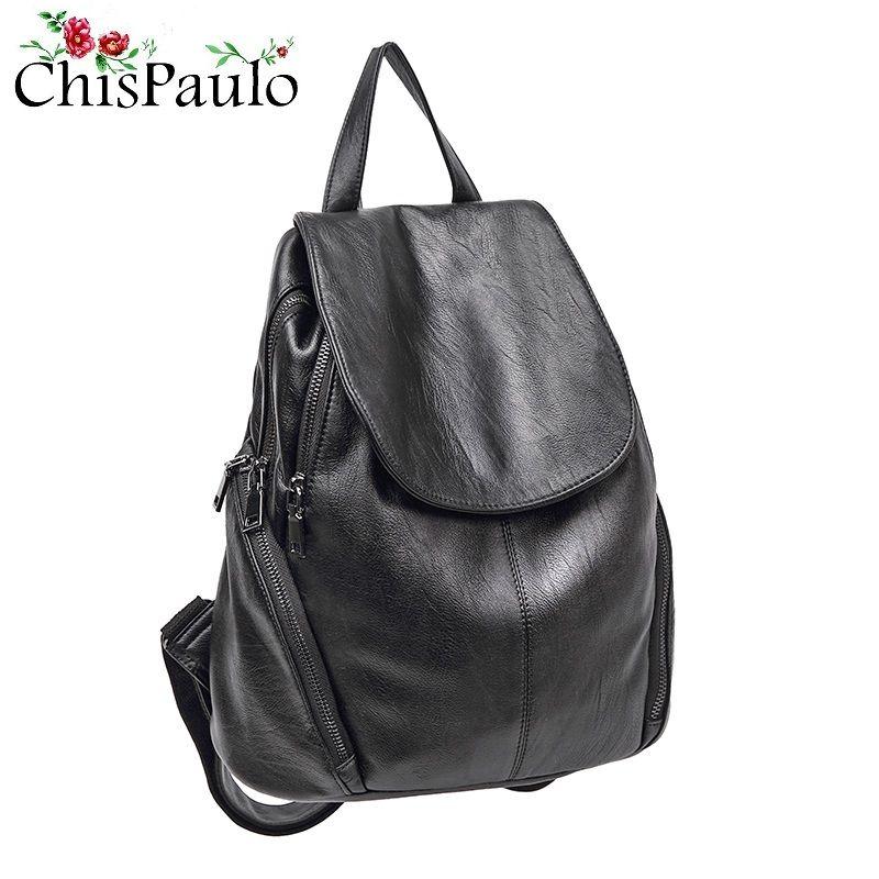 Luxury black Women Backpack Genuine Leather Crocodile Pattern Female Knapsack Elegant Lady Shoulder School Bags For Girls N033