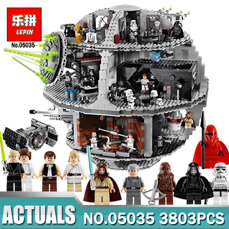 Lepin 05035 Star Set Wars Death Star 3803pcs Building Block Bricks Toys Kits Compatible LegoINGlys 10188 Children Educational
