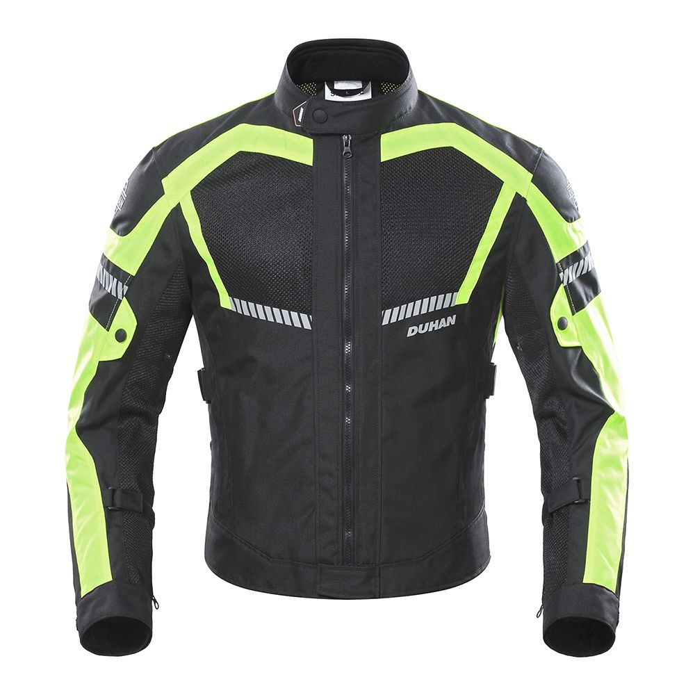 DUHAN Men's Motorcycle Jacket Breathable Motorcycle Clothing Summer Man Moto Jacket And motorbike Pants Racing Clothes