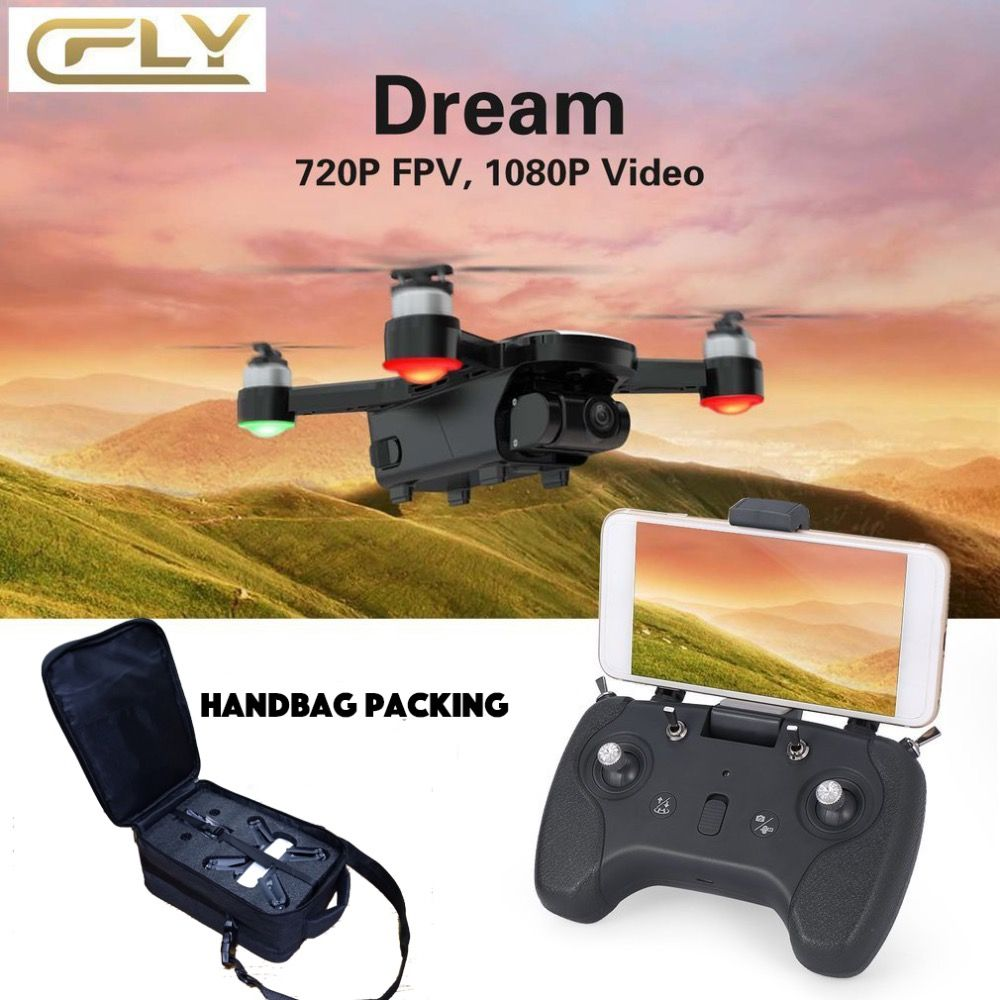 C-FLY CFLY Dream GPS RC DRONE Brushless Motor 5G WIFI FPV 800M 1080P HD Camera Follow me Mode Circle Flying Optical Flow