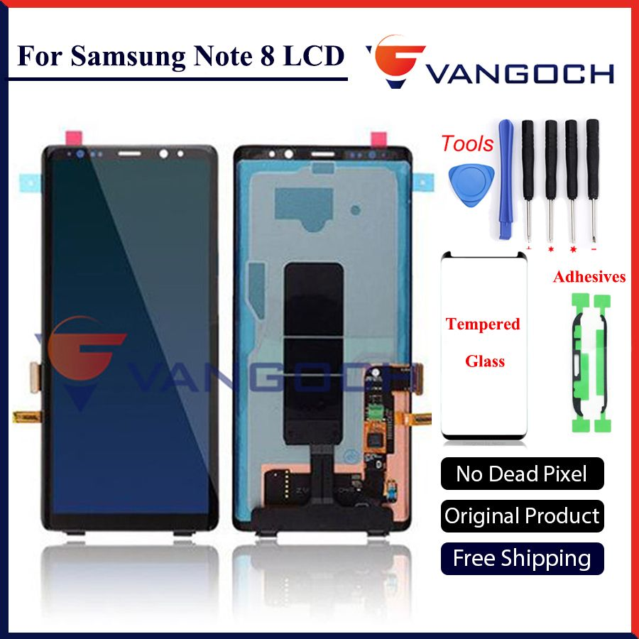 Original lcd Für Samsung-anmerkung 8 Lcd Display Touchscreen Digitizer Assembly Für Samsung Note8 N9500 6,3 zoll freies verschiffen