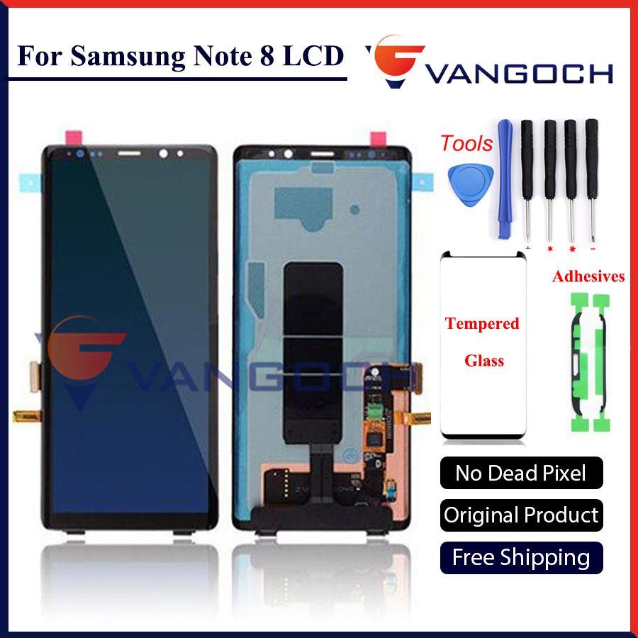 Original lcd Für Samsung Note 8 Lcd Display Touchscreen Digitizer Montage Für Samsung Note8 N9500 6,3 zoll freies verschiffen