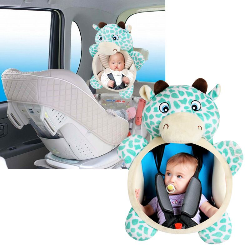 Baby rattle baby car seat stuffed plush toy animal Dear mirror <font><b>rearview</b></font> infant backseat toy newborn accessories 0~12 months
