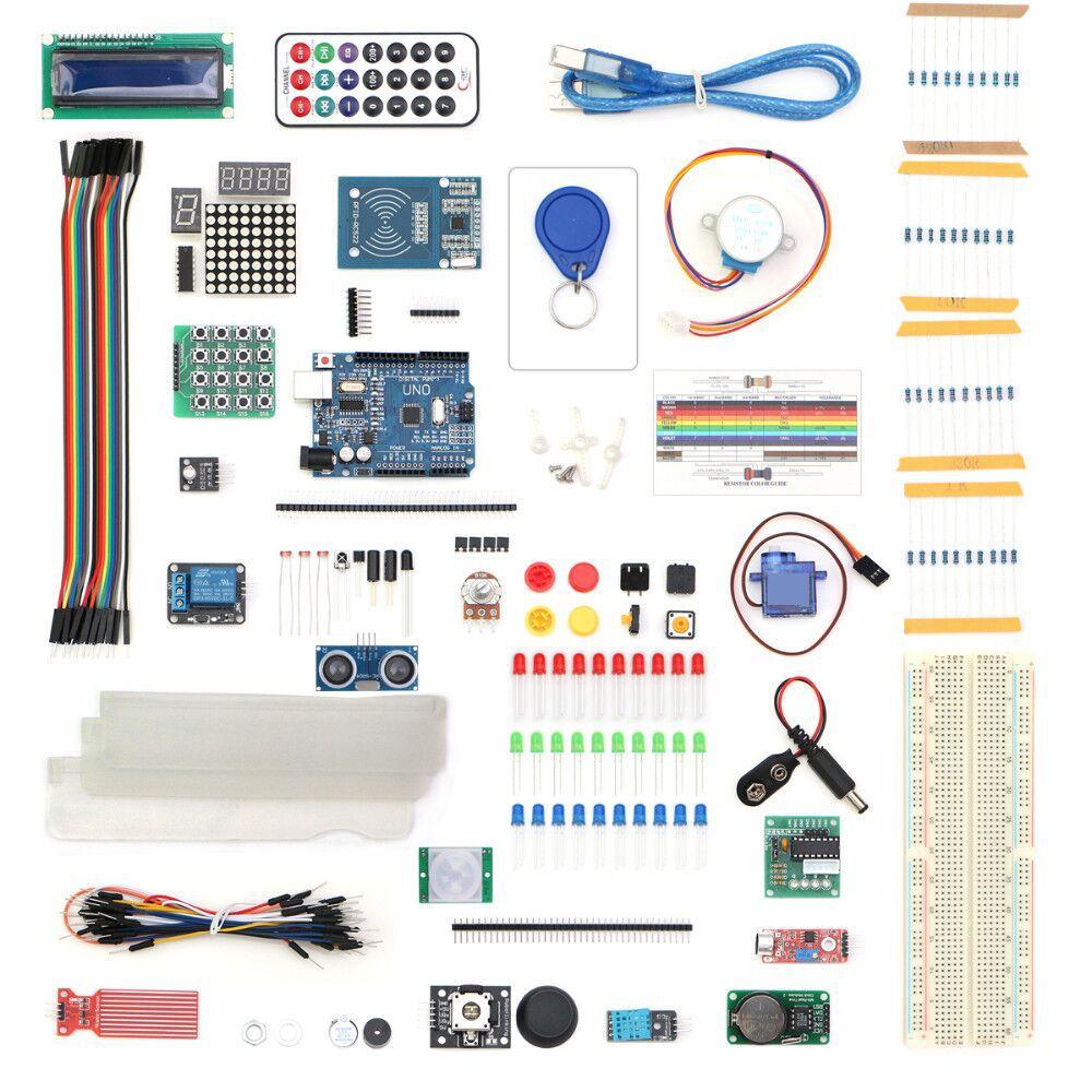 Livraison Gratuite 2017 RFID Kit de Démarrage pour UNO R3 Version Améliorée D'apprentissage Suite Kit Avec tactile module cadeau