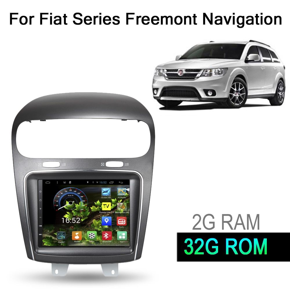 8.4 inch 32G ROM Android 6.0 Car GPS Navigation System Media Stereo Auto Radio Player Video Audio For Dodge For Fiat Freemont