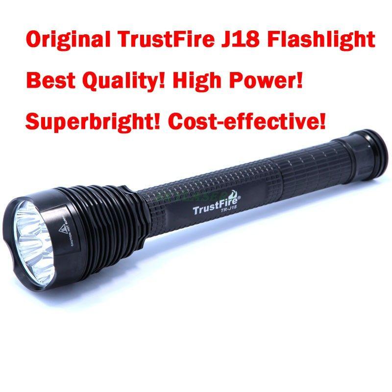 Original TrustFire J18 7T6 7 * XM-L T6 8500 Lumens 7 LED Most Powerful Led Flashlight Torch (3*26650/3*18650)