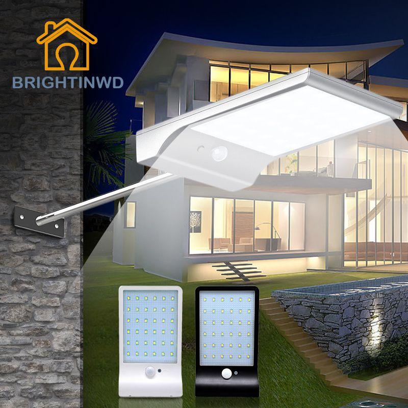 LED Solaire Lumière 36led 450LM PIR Motion Sensor Alimenté Rue Lampes Jardin D'énergie Extérieure Éclairage Étanche IP65 Appliques Murales
