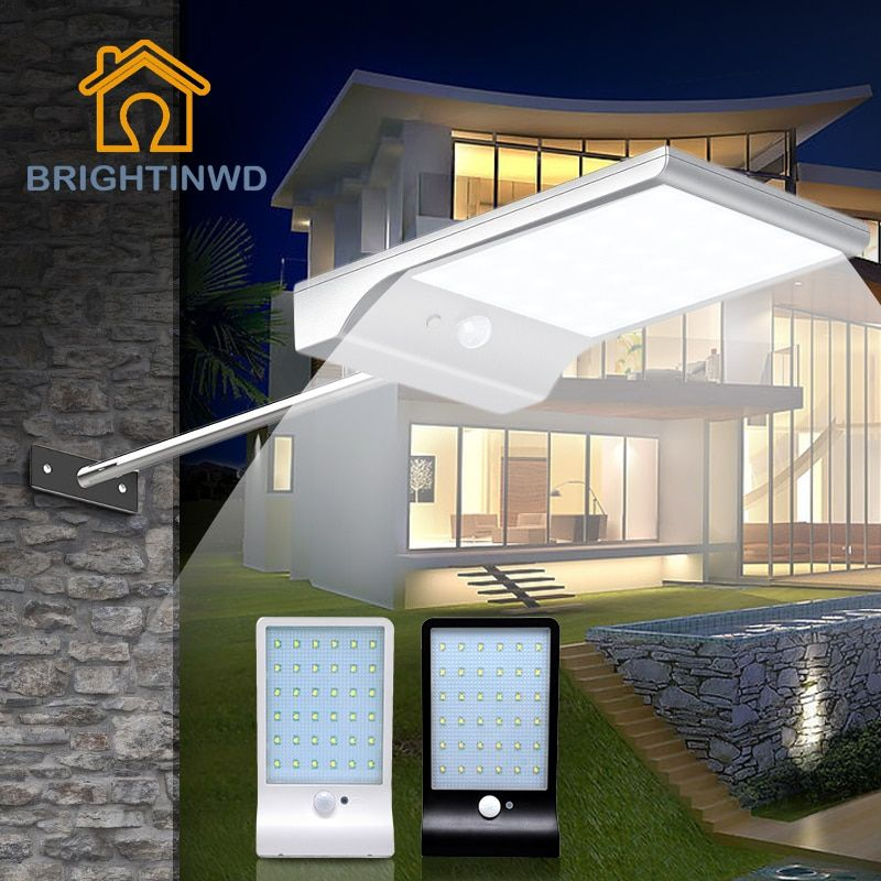 LED Solar Light 36led 450LM PIR Motion Sensor Powered Street Lamps Garden Outdoor Energy Lighting Waterproof <font><b>IP65</b></font> Wall Lights