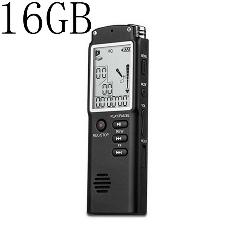 16 gb Mini T60 Professionelle Sprach Aufnahme Gerät Zeit Display Großen Bildschirm Digital Voice Audio Recorder Diktiergerät MP3 Player