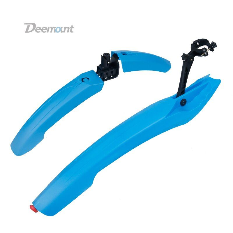 Deemount 1 <font><b>Pair</b></font> Bicycle Mudguard With LED Taillight MTB Mountain 24 26 27.5 inch Bike Mud Wings Front/Rear Wheel Fender