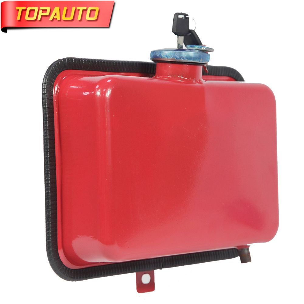 TopAuto 4.5L Car Fuel Tank Cap Cover Key Oil Gasoline Diesel Stainless Steel Storage Petrol Bucket Car Motorcycle Accessories