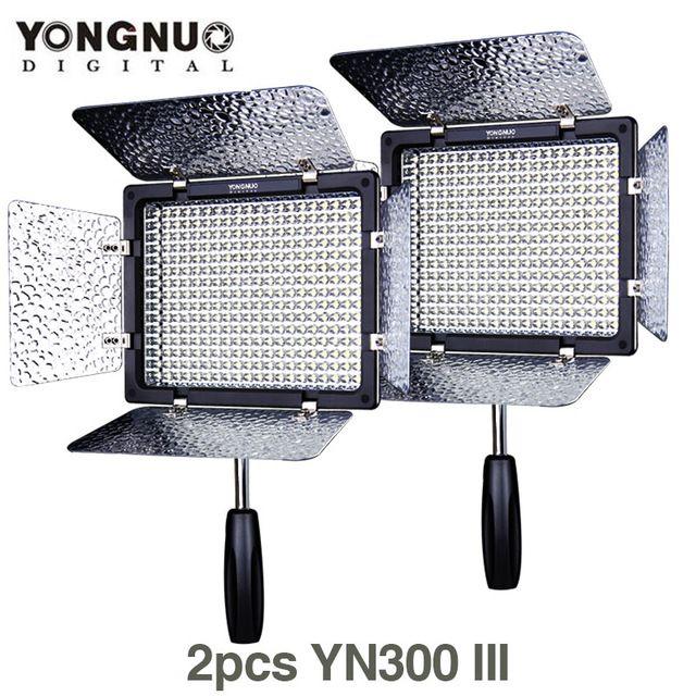 2X/lots YONGNUO YN300 III 5500K 300 LED Light On Camera Video Lighting for Wedding camera Studio Video light lamp YN300III