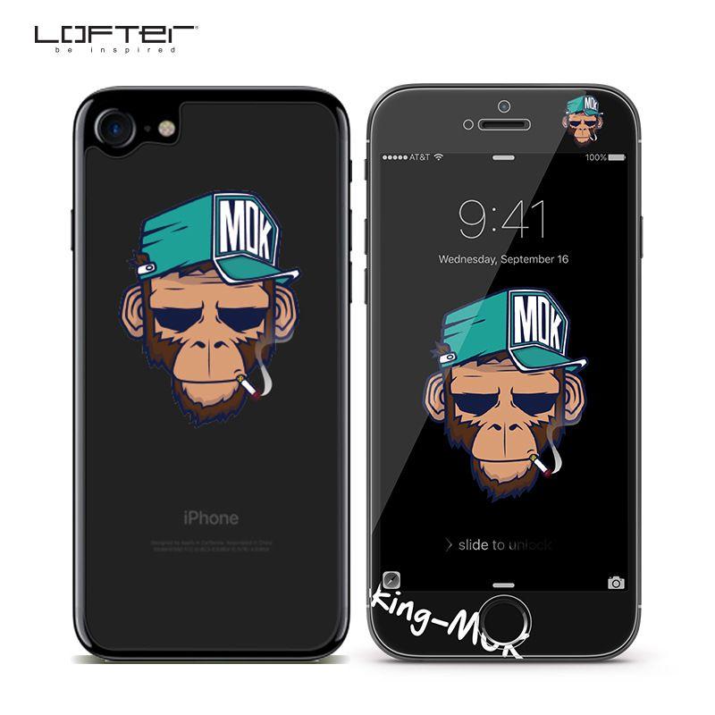 2 pièces bande dessinée couverture complète verre trempé protecteur d'écran pour iPhone 7 8 pour iPhone 7 8 plus avant arrière 3D Relief 9 H Film garde