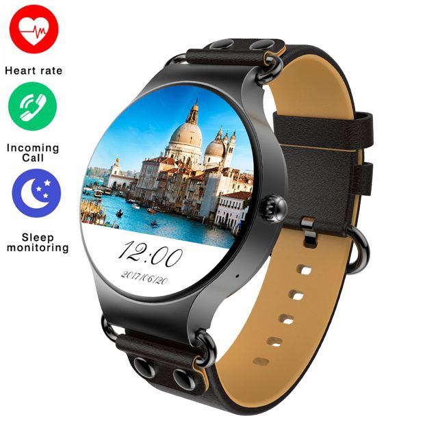 Wristwatch KW98 Smart watch 3G WIFI GPS SIM Card Android 5.1OS Heart Rate Monitor Pedometer for iOS Android Phone PK KW88 KW99