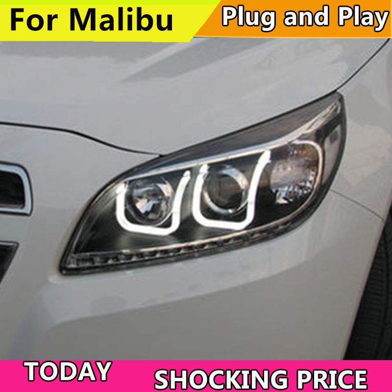 2011-2014 year car Headlight For Chevrolet Malibu Headlights LED DRL Running lights Bi-Xenon Beam Fog lights