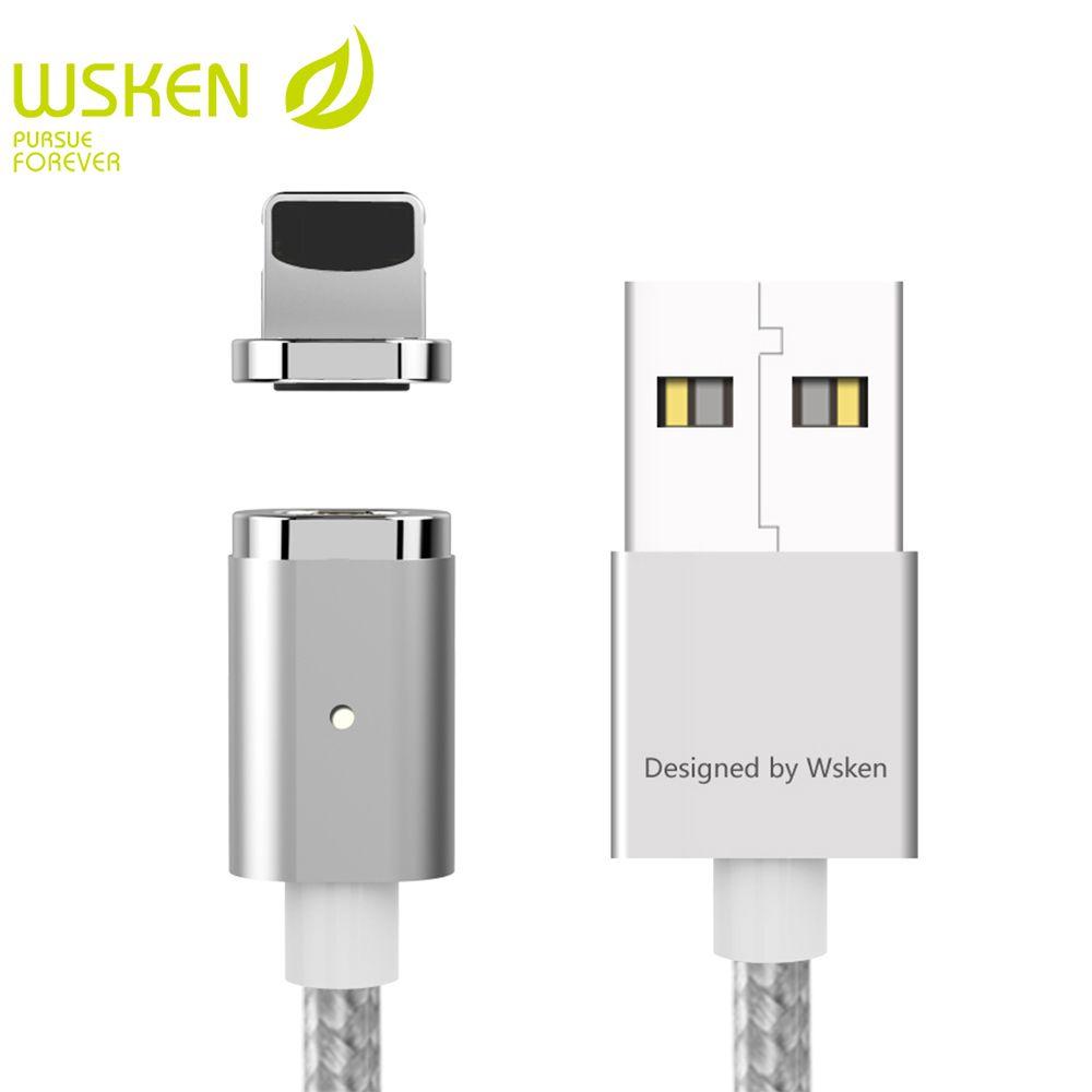 WSKEN Mini 2 USB Ladekabel Für iPhone Kabel USB Magnetic ladegerät Handy Kabel Für iPad Usb-kabel Mit LED-Licht