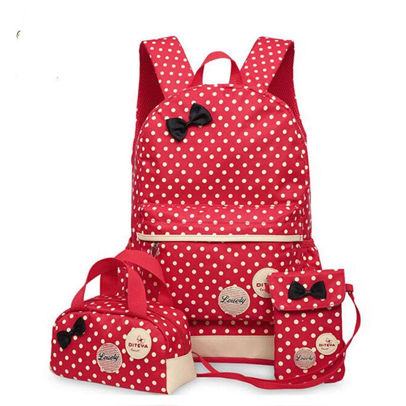 Backpacks School Bags For Teenagers girls backpack set women shoulder travel bags 3 Pcs/Set rucksack mochila book bags LM3582mf
