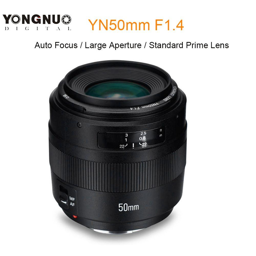 YONGNUO YN50mm F1.4 Auto Focus 50mm Standard Prime Lens Large Aperture Lens for Canon EOS 760D 70D 5D2 5D3 600D 7D DSLR Camera
