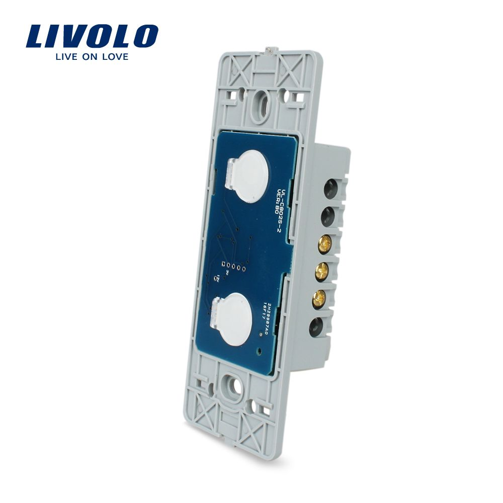 Livolo US standard Base Of Wall Light Touch Screen Switch, 2Gang 1Way, AC 110~250V,Without glass panel, VL-C502