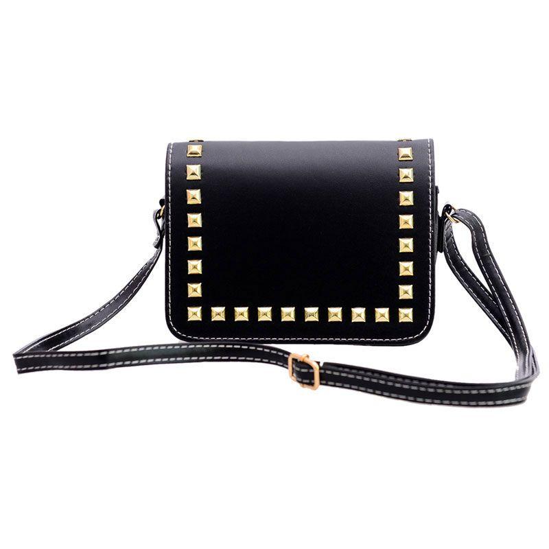Mode femmes petit PU cuir Messenger sacs Rivet bandoulière sacs à bandoulière femme sac à provisions sacs à main pochettes Bolsa Feminina