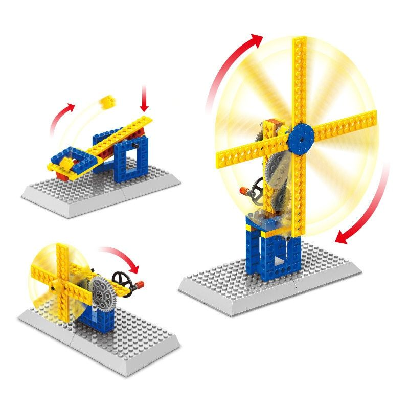 Tested Compatible with Lego, Mechanical Gear Technic Building Blocks Engineering Children's Science Educational STEM Toys,3 IN 1