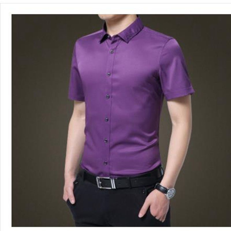 2017 new arrive Men 95% cotten shirts multiple color <font><b>options</b></font> fashion clothes shirts for Man