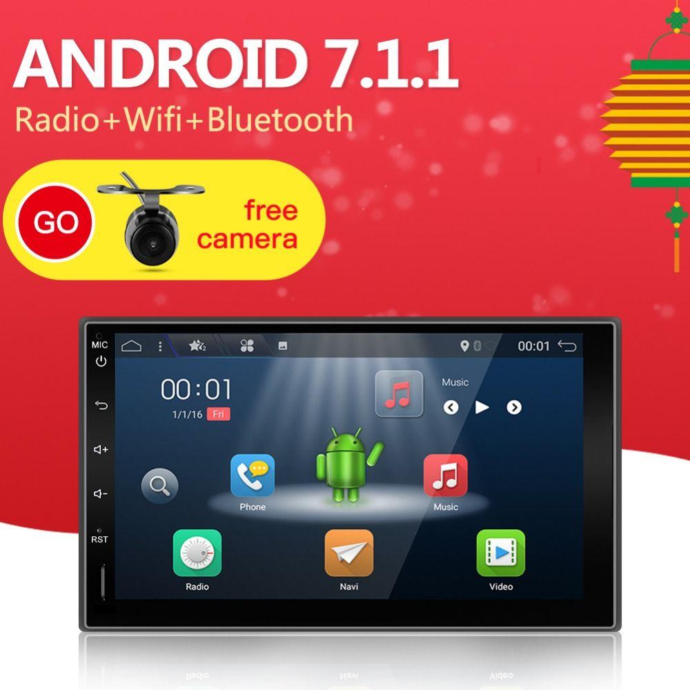 2din Android universel tactile voiture PC tablette double din Audio 7 ''GPS Navi voiture stéréo Radio USB pas de DVD Navigation vidéo capacitif