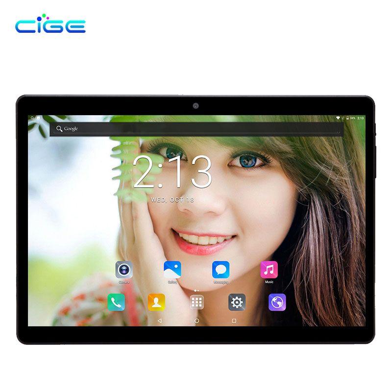 CIGE 4G LTE Android 7.0 10.1 pulgadas Tablet pc MT8752 8 core 4 GB RAM 64 GB ROM IPS Tablets pc 5MP Dual WiFi GPS OTG hd IPS
