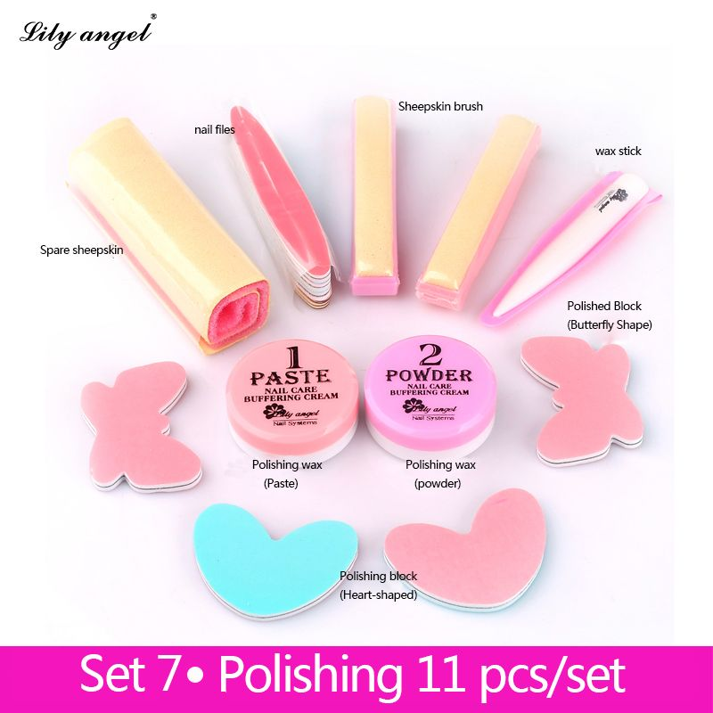 Nail Conditioner & <font><b>care</b></font> Nail Polishing Paste & Powder Nail art Manicure Luster Buffing file Full set of nail files Z